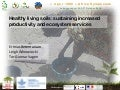Healthy living soils sustaining increased productivity and ecosystem services