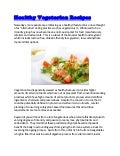 Healthy vegetarian recipe