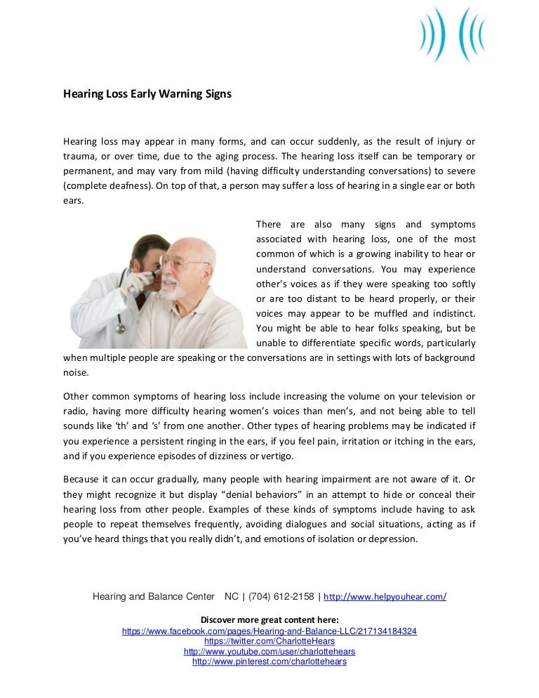 early warning signs llc