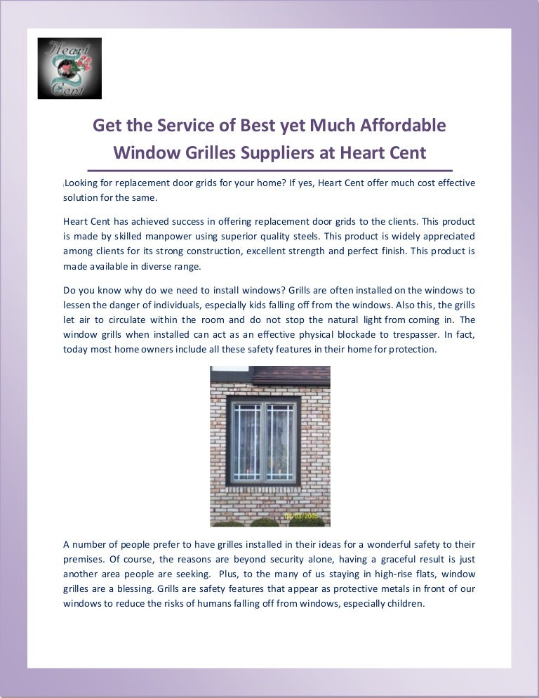 One Stop Solutions In Budget: One Stop Solution For Window Grilles