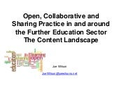 Content Landscape for UK Community Colleges