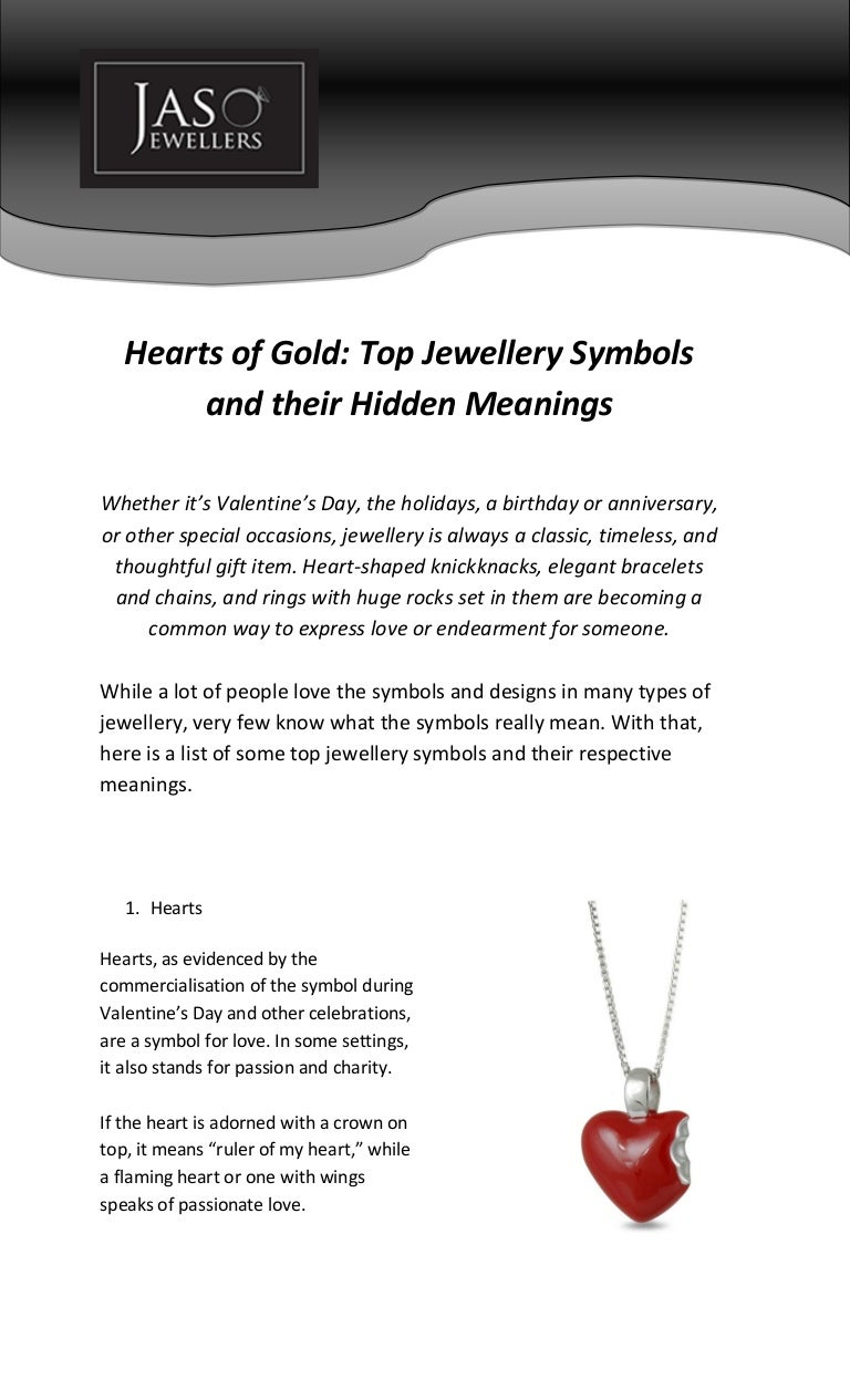Hearts of gold top jewellery symbols and their hidden meanings buycottarizona