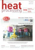 SOLO Swiss in cover of the magazine Heat Processing N° 2 2016