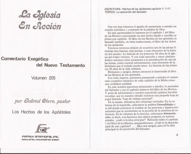 Los Hechos de los Apóstoles. Autor Gabriel Otero