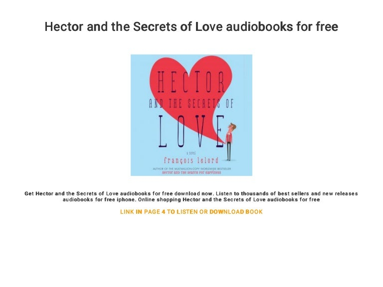 Hector And The Secrets Of Love Audiobooks For Free