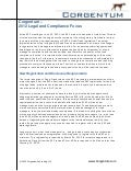 Corgentum – 2012 Legal and Compliance Focus (Operational Due Diligence)