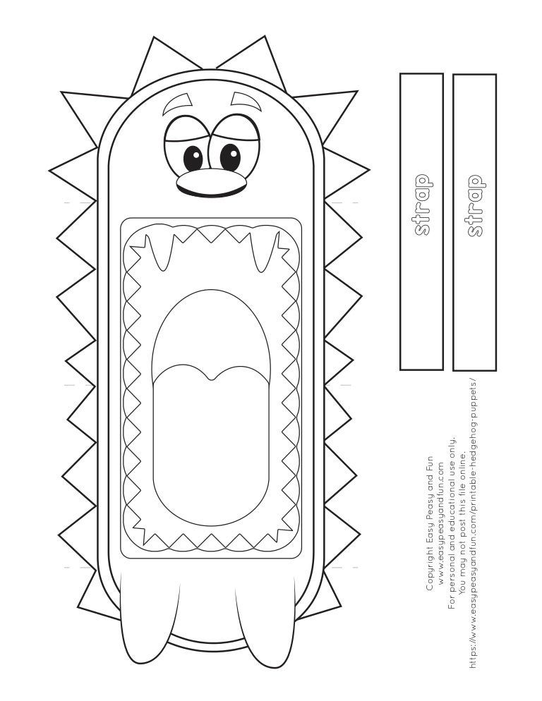 photo about Printable titled Hedgehog printable-puppet