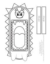 Hedgehog printable-puppet
