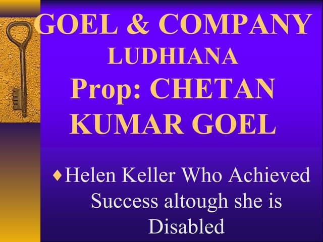 Helen keller achieved success altough she is disabled