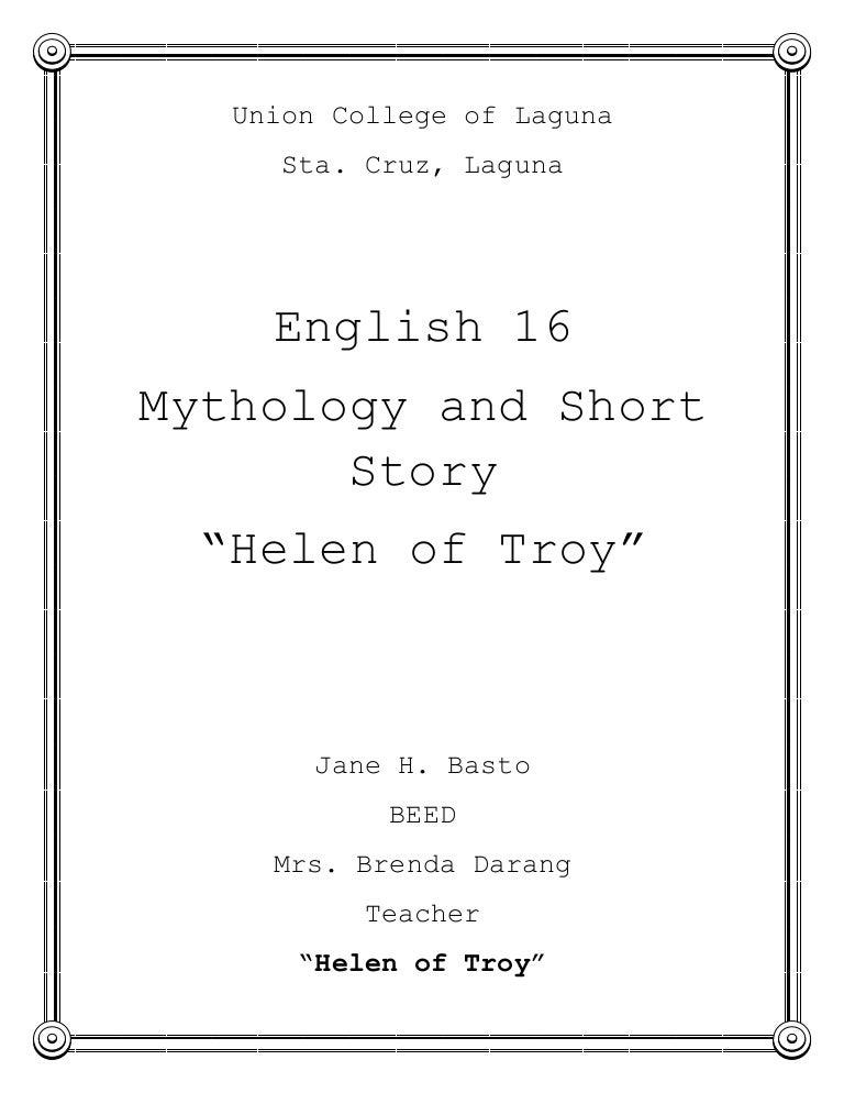 helen of troy setting