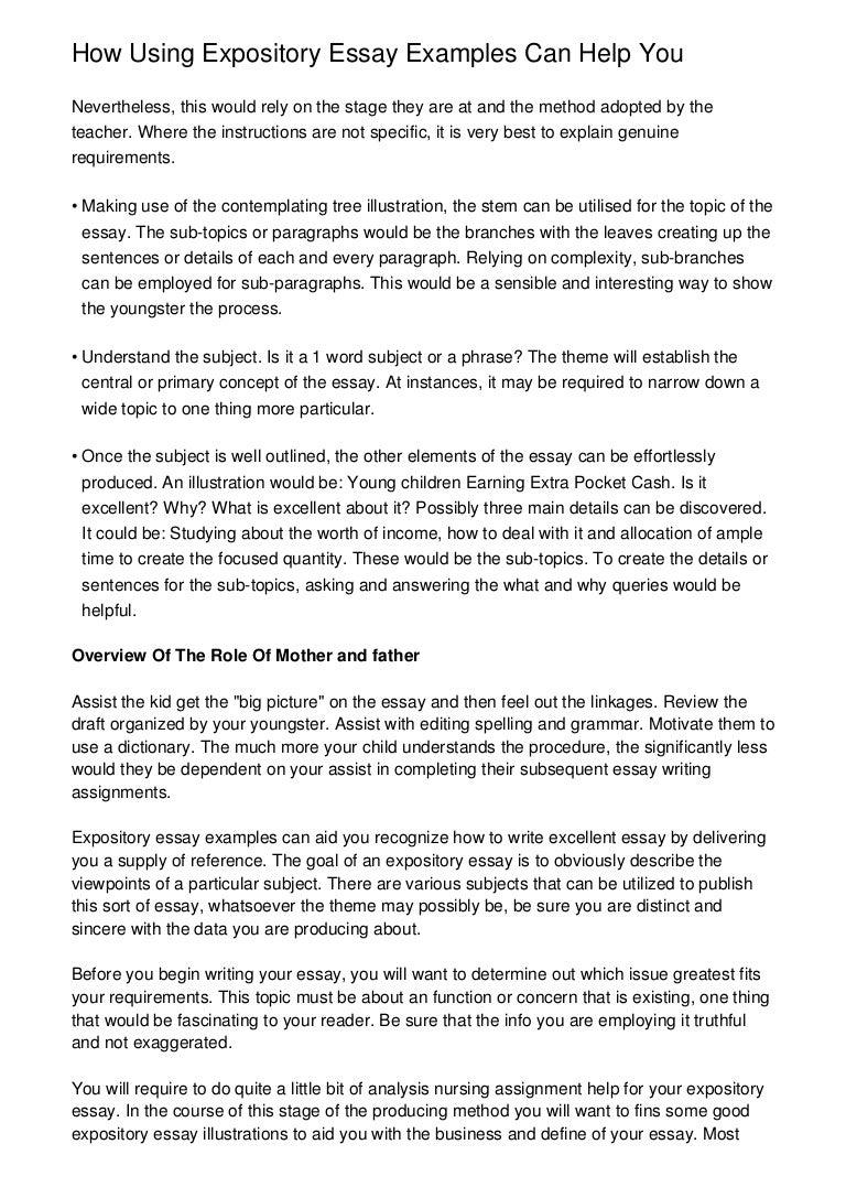 Exposition Essay Example Cover Letter Examples Of Expository Essay  Helpmewriteanessayusingpealanddrapesmethodsinyouressay Phpapp Thumbnail Jpg  Cb