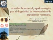 Diagnóstico de hemoparásitos de importancia veterinaria