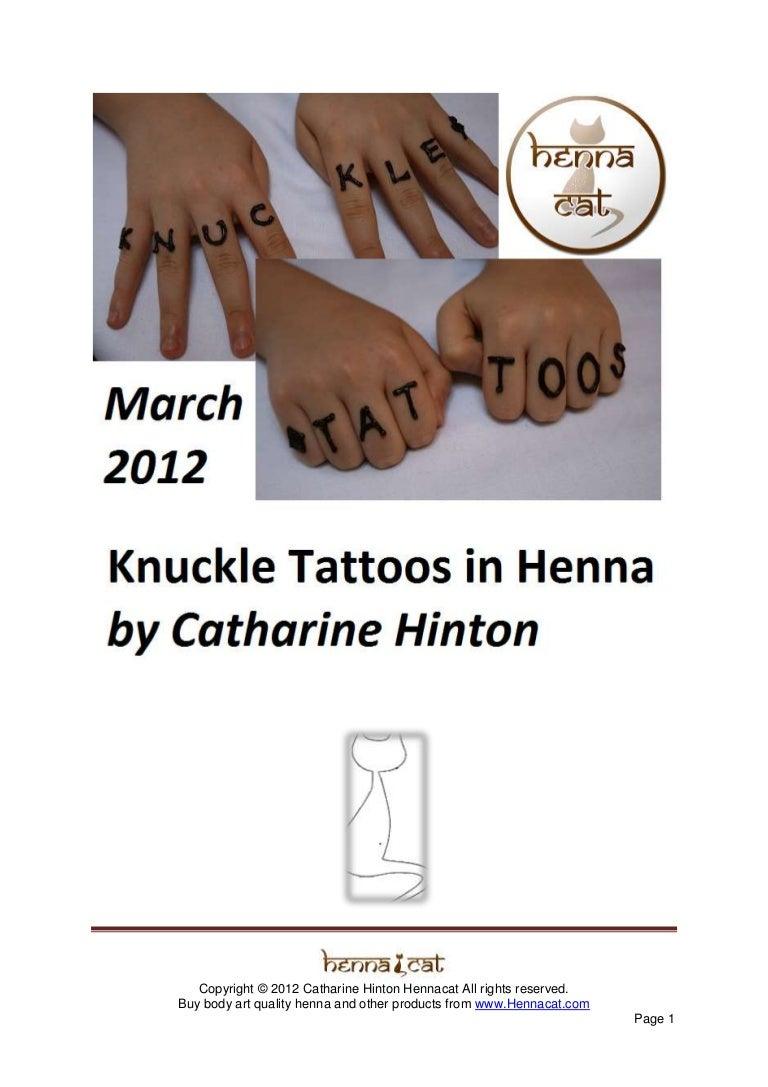 Hennacat Free Ebook Knuckle Tattoos In Henna