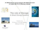 The Role of Storage in Smart Energy Systems | Henrik Lund