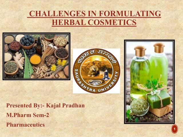 Herbal cosmetics seminar