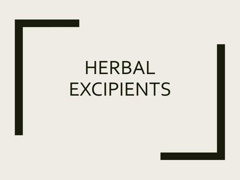 Herbal excipients