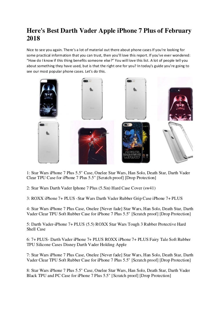 reputable site 28ba2 c08d5 Here's best Darth Vader iPhone 7 plus Cases of February 2018