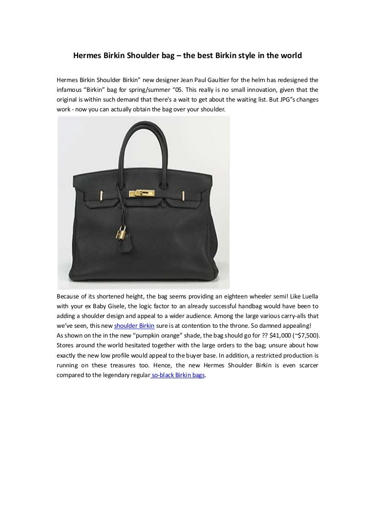 9c3a58798e Hermes birkin shoulder bag – the best birkin style in the world