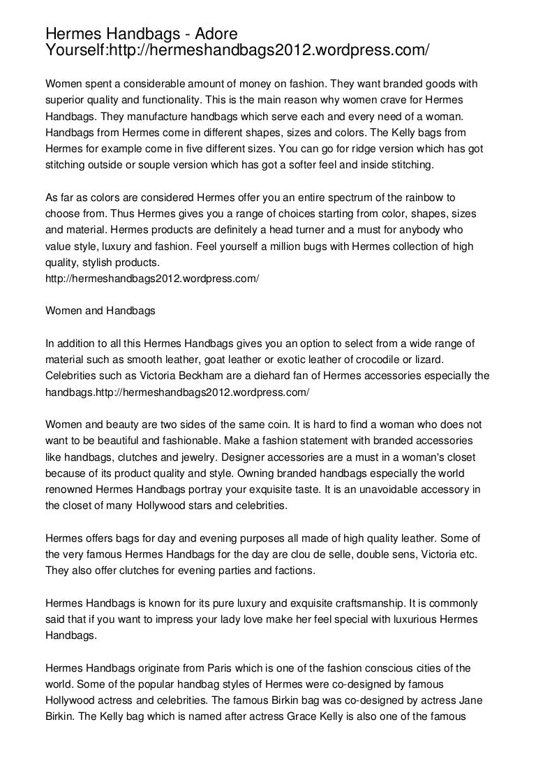 Hermes Handbags Adore Yourself Hermeshandbags2012 WordPress
