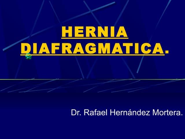 Hernia diafragmatica postraumatica.