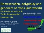 Domestication, polyploidy and genomics of crops #PAGXXV Heslop-Harrison