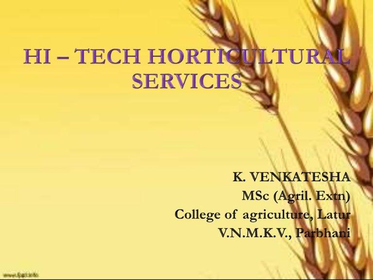Hi tech horticultural services toneelgroepblik Choice Image