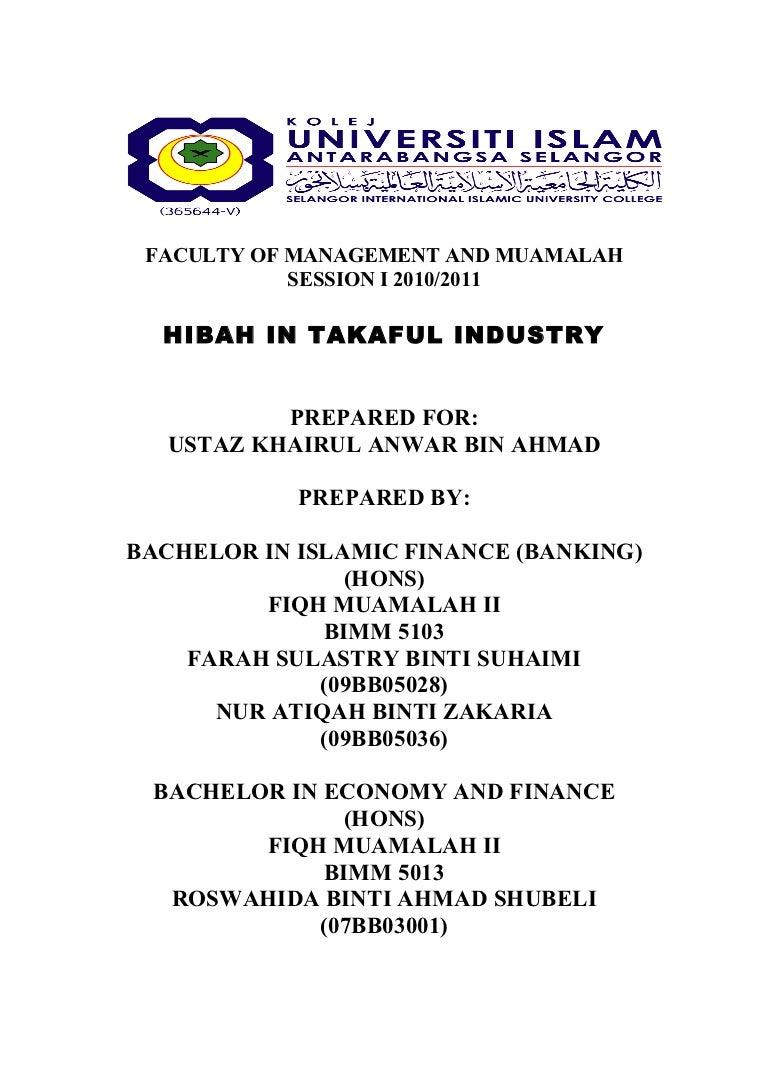 Hibah In Takaful Industry