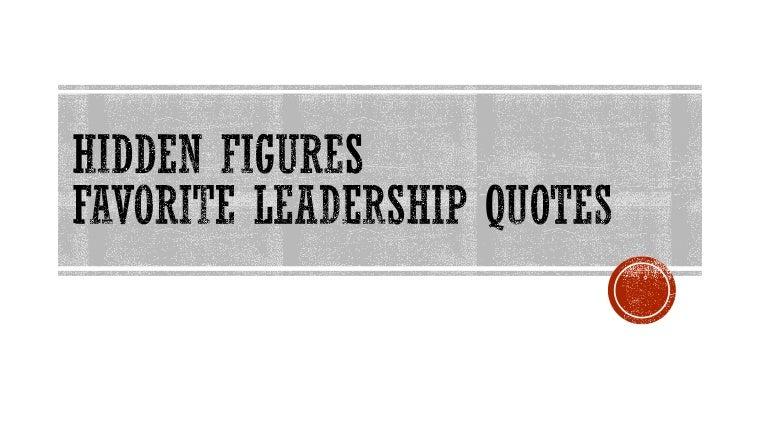 Hidden Figures leadership quotes
