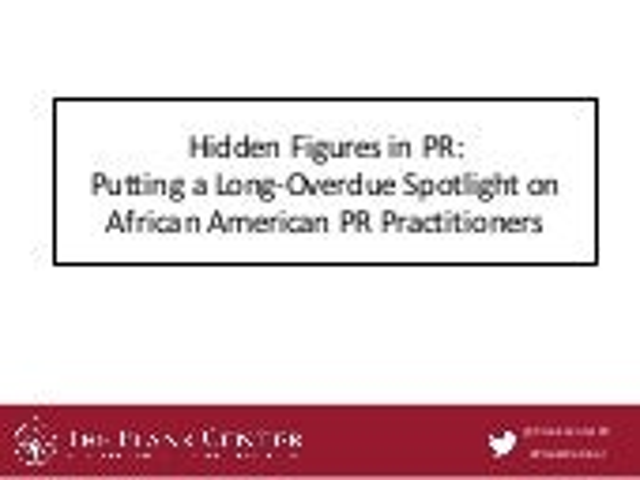 Hidden Figures of PR: Putting a Long-Overdue Spotlight on African American PR Practitioners