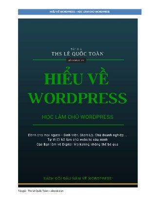 sach ebook hoc wordpress tieng viet hay nhat huong dan thiet ke xay dung website