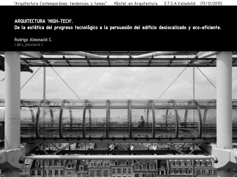 Arquitectura high tech de la est tica del progreso for High tech arquitectura