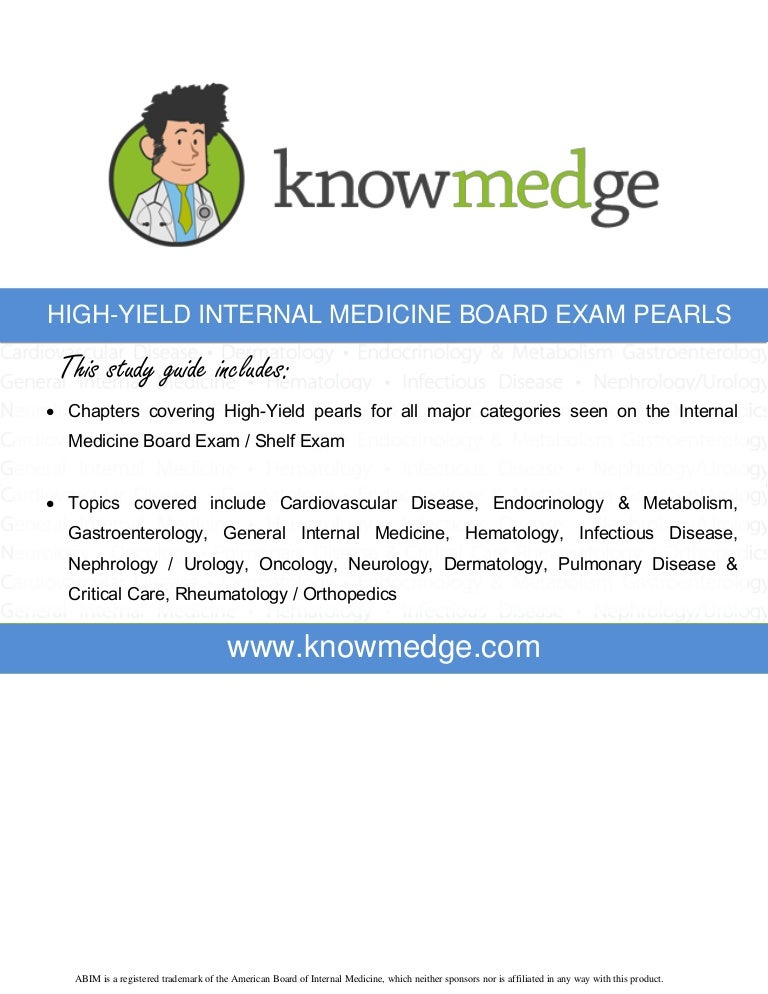 High yield internal medicine board review pearls fandeluxe Image collections