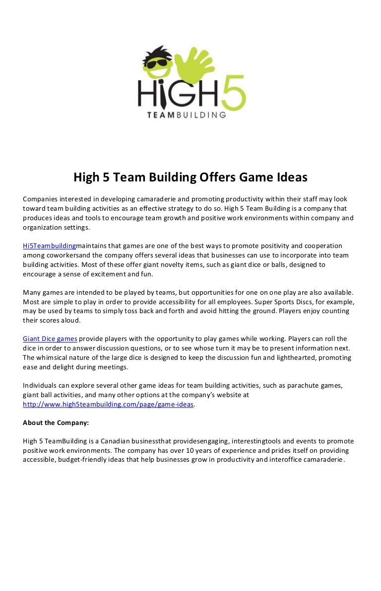 Fun games for friendly companies in nature