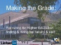 Making the Grade: Recruiting for Higher Education Finding & Hiring Top Faculty & Staff [Webcast]