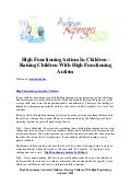 High functioning autism in children   raising children with high functioning autism