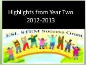 Highlights from Year Two of the ESL STEM Success Grant