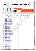 High pr classified ads sites list