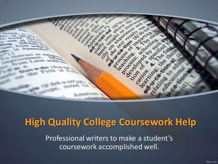 University coursework help