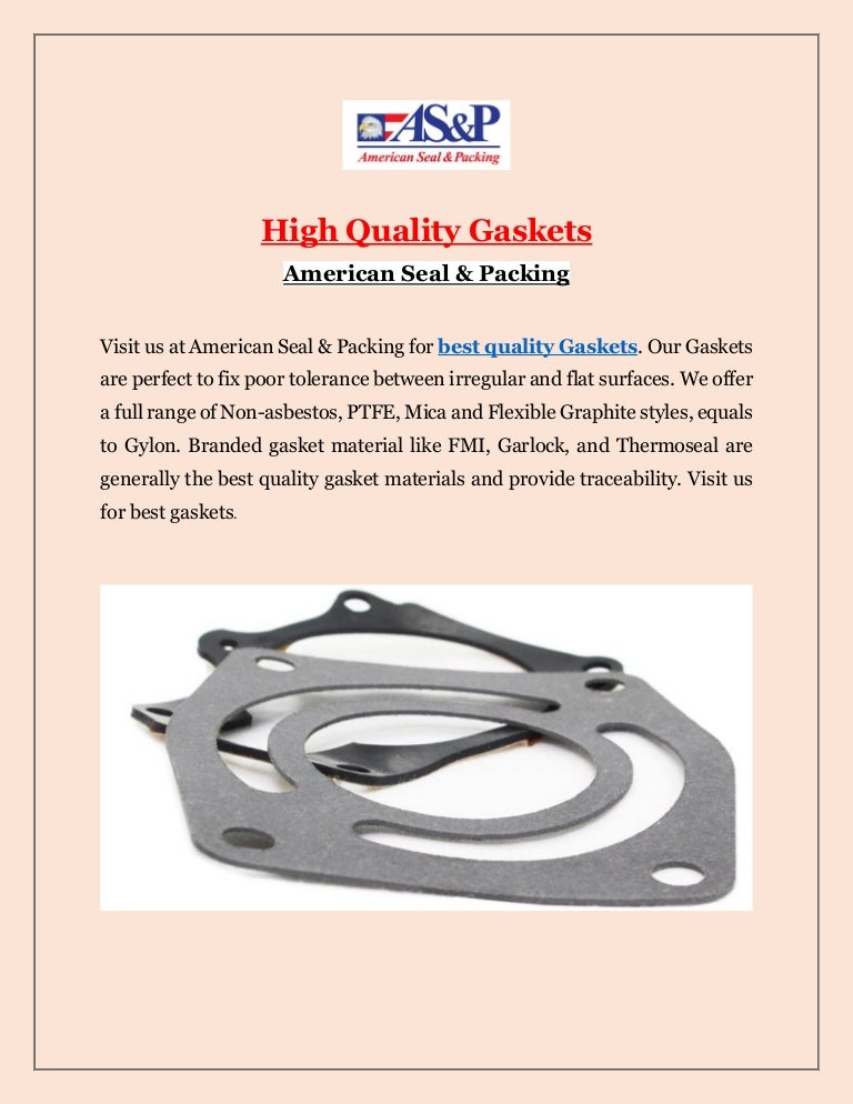 High Quality Gaskets with Aspseal