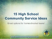 High School Community Service Ideas