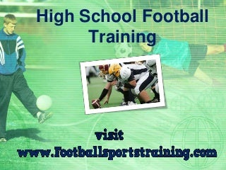 High School Football Strength And Weight Training Programs