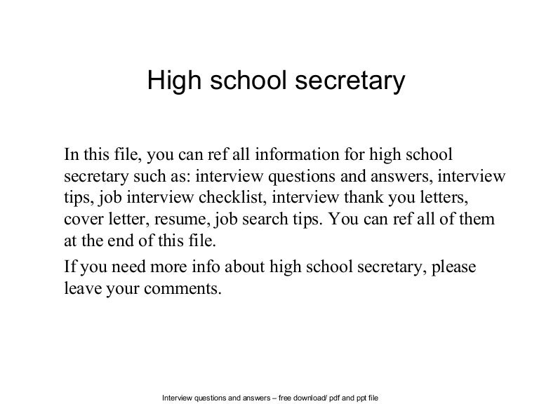 highschoolsecretary140625110923phpapp01thumbnail4jpgcb 1403698781 – School Secretary Job Description