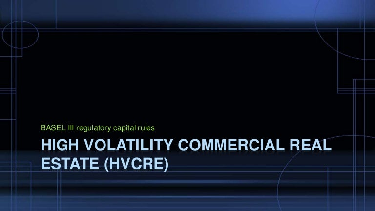 Option Strategies In High Volatility Commercial Real Estate