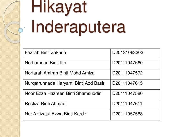 Hikayat Inderaputera