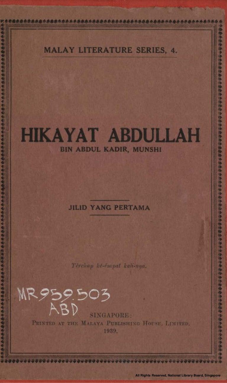 Hikayat Abdullah Jilid Pertama Fourth Edition
