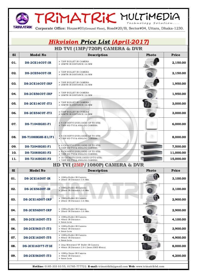 Hikvision Price List Bangladesh