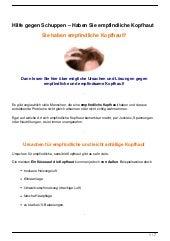 Hilfe gegen Schuppen – Haben Sie empfindliche Kopfhaut