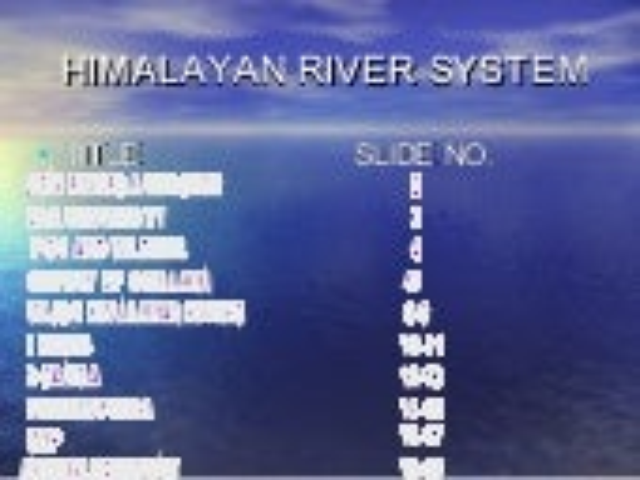 Himalayan river system(from  goel & company ludhiana)