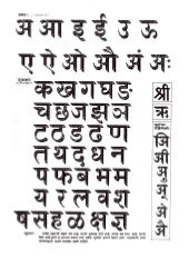 Marathi alphabets with pictures
