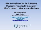 PSOW 2016 - HIPAA Compliance for EMS Community